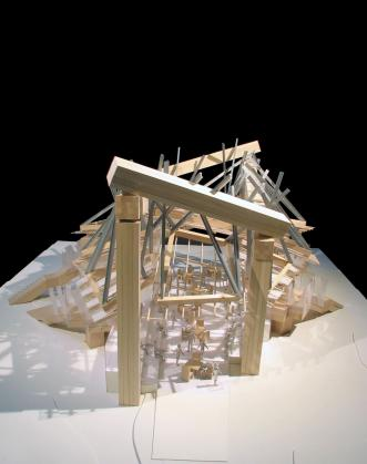 Serpentine Gallery Pavilion 2008 model view 1