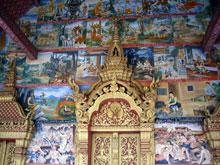 壁画ー、色んな寺で見られたけど、どれも違って面白い