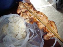 この鶏肉がシンプルだが凄く美味くて好き。タレがいいんだな