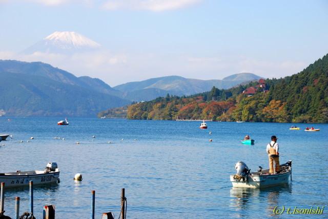 富士山と芦ノ湖(2008/11/4)