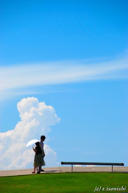 横浜港大桟橋の夏(2008/8/7)