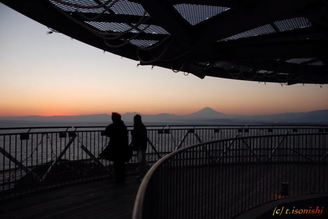 江ノ島展望灯台からの富士山(2008/1/6)
