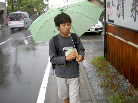 大雨でした