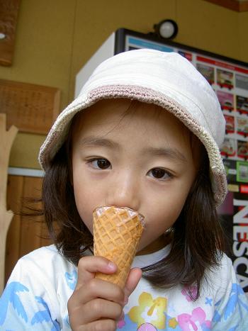 アイスおいし~。
