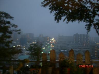 暖かい雨の日