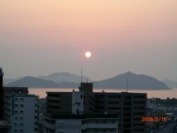 5月16日の夕焼け