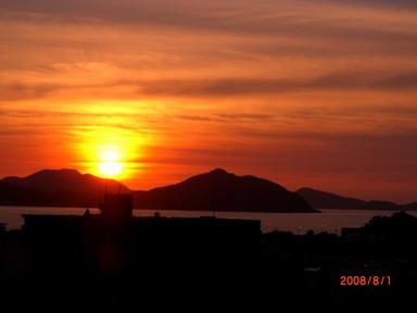 8月1日の夕陽