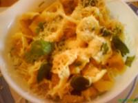 生ノリとダブりナ・チーズソースのパスタ