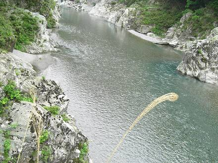 遊歩道から見る穴吹川