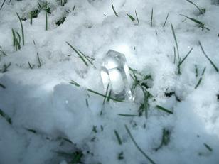 雪の中のクリスタル