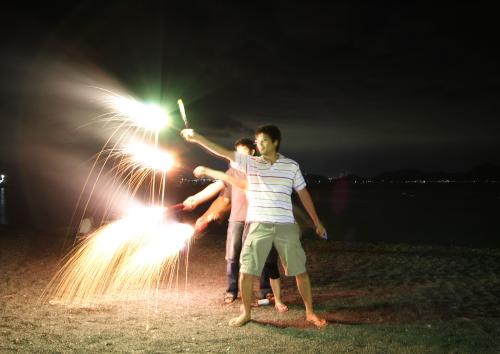2008-07-28-大瀬花火みんなで