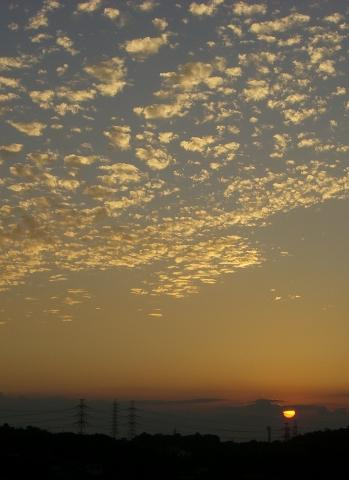 同じ日の夕焼け.。.:*・゜゚・*
