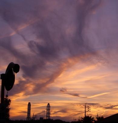 8月10日の夕焼け+.――。o○*☆*