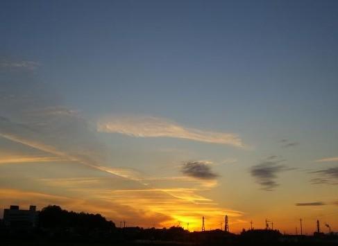 さっきの夕焼け。o○☆*