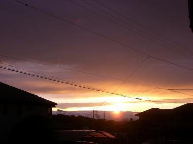 雲の海にしずむ夕日♪*