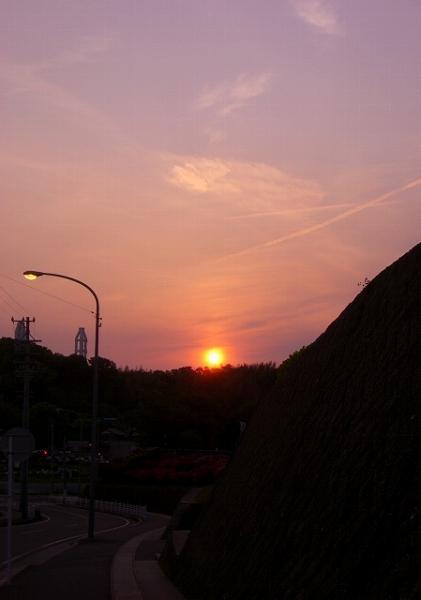 5月3日の夕日。.:*・゚☆.。.:*