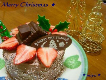 手作りクリスマスケーキ♪