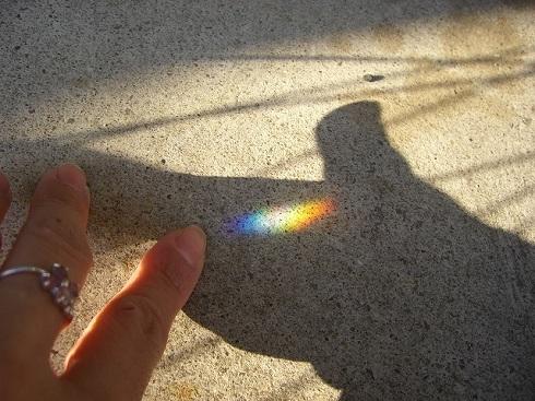 今朝も虹を見つけた:*:・゚☆
