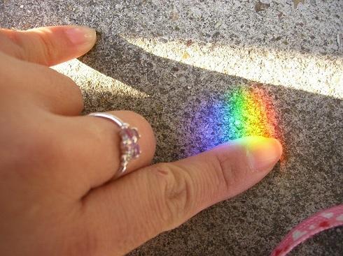 かなり濃い~虹♪*