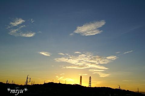 昨日の夕焼け。.:*・゚☆.。.:*