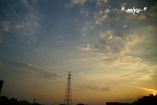 秋の夕日。.:*・゚☆.。.:*