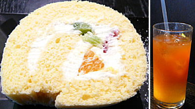 ロールケーキ&オレンジティー