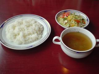 Owl サラダ・ライス・スープ