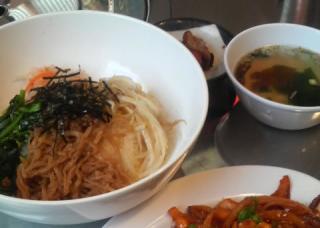 韓国屋台料理ハルバン ビビンバ+豚キムチ