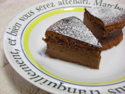 手作りチョコレートケーキ 断面