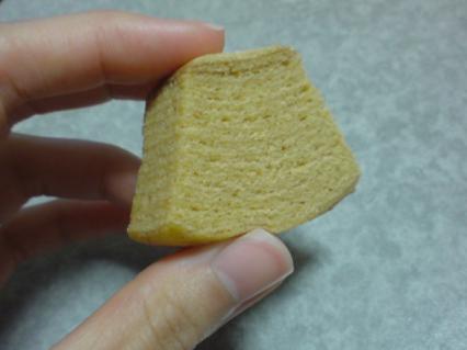 無印食品 塩キャラメルバウム 断面