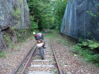 間藤駅から本山の廃線