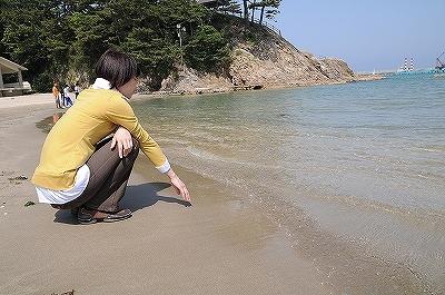 まだ水は冷たかったです・・・^^