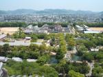 姫路城の天守閣からの景色