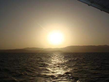 エーゲ海の夕日