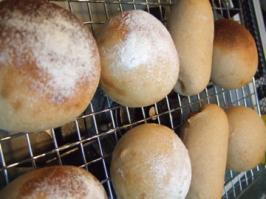 丸パンとコロッケパン