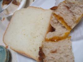 食パン&かぼちゃパン断面
