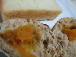 割ったかぼちゃパン
