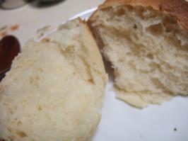 おまけまるパン割った