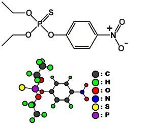 きむきむのぷーある日記_パラチオンの化学式、構造式