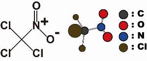 きむきむのぷーある日記_クロルピクリンの化学式、構造式