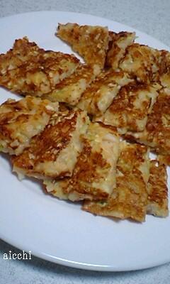 キャベツと豆腐のチヂミ