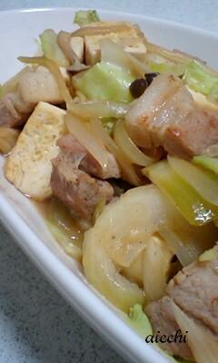 豆腐の味ポンチャンプルーup