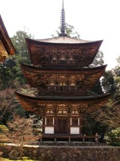 西明寺 三重塔