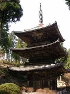 常楽寺 三重塔