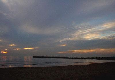 東京湾の夕日2