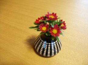 花瓶(赤い花)