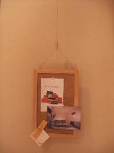 家事室コルクボード