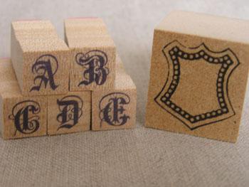 アルファベットとモチーフスタンプ・2
