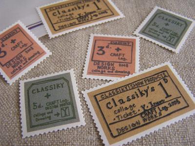 切手シール・2