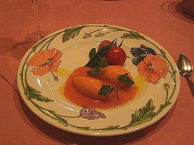 りんごの絆 前菜赤ピーマンのムース